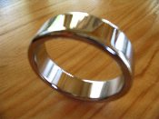 Thick Chrome Band Cock Rings