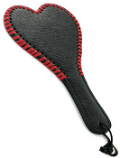 Heart Shaped Grain Leather Paddle