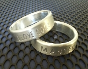 Custom Personalized Engraved Band Cock Ring