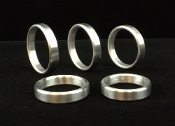 Brushed Aluminum Band Cock Rings