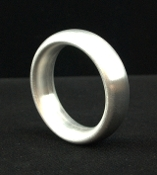 Brushed Aluminum Donut Cock Rings