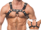 NEW Male Bulldog Leather Harness