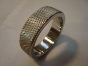 Knurled Stainless Steel Cock Ring