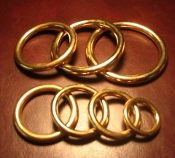 Solid Brass Wire Rings