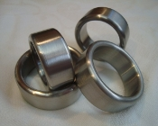 Brushed Stainless Steel Head/Shaft Band Rings